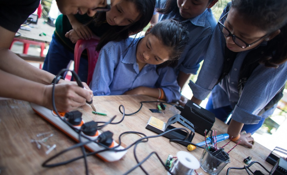 Hackerfarm Soldering Irons in the Greater Himalayas